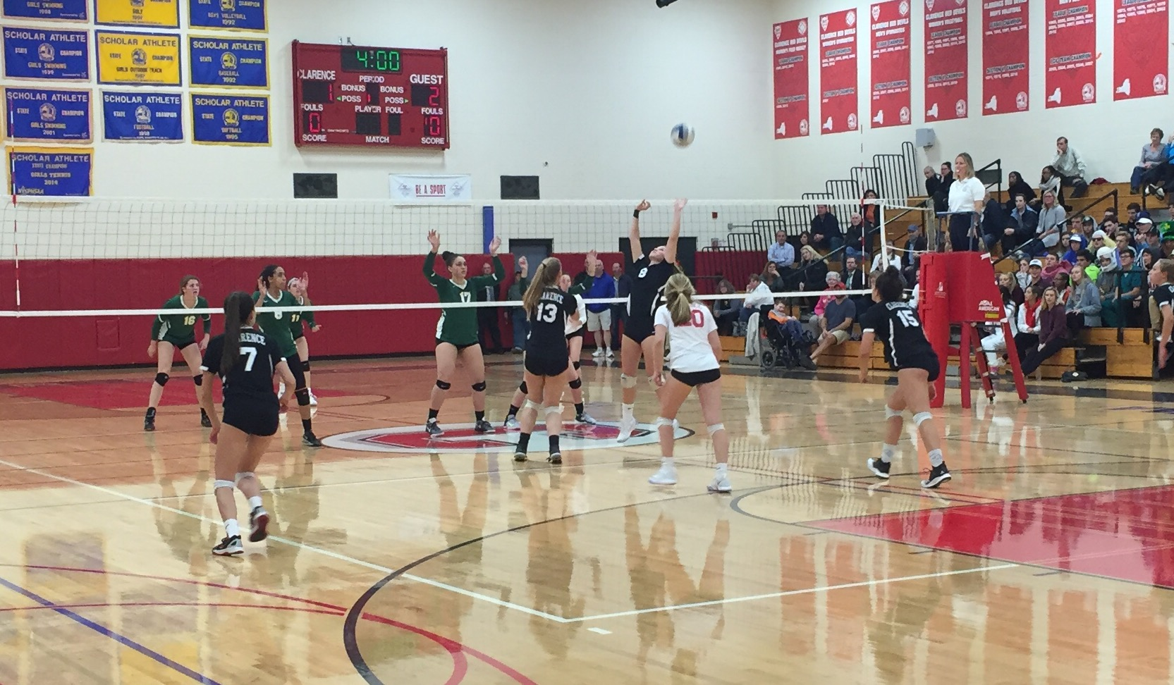 Clarence Girls Volleyball Rallies Past Upset-Minded Williamsville North