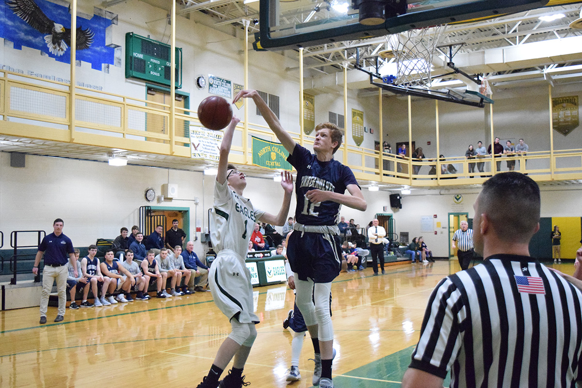 Timberwolves Rally to Beat North Collins, 52-48