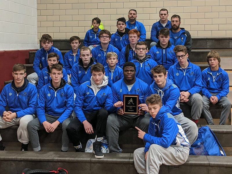 Newfane Wrestling Rolls to Seventh Straight N-O Title, Undefeated Season