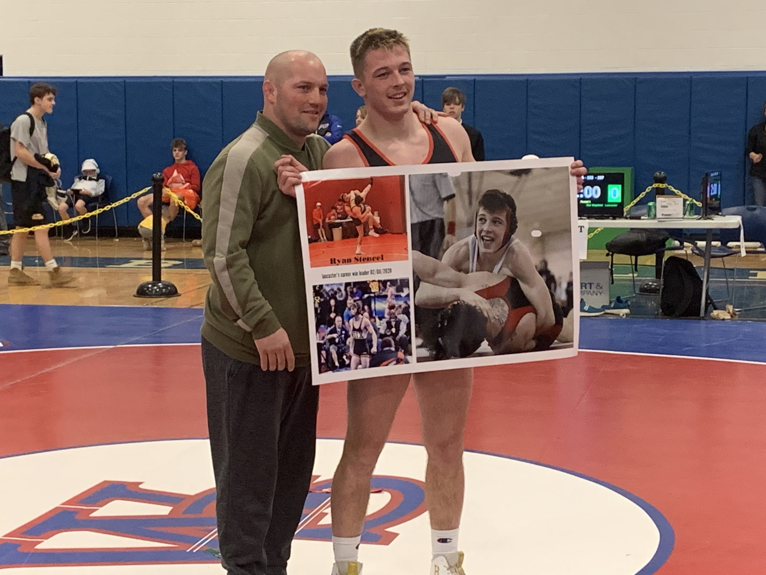 Stencel Sets New Lancaster Wrestling Program Wins Record