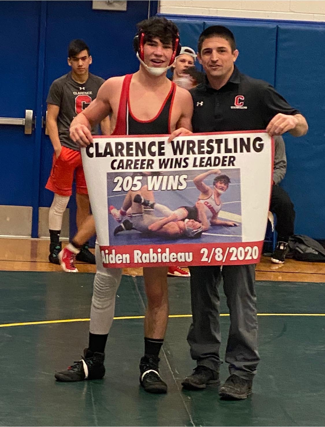 Rabideau Breaks Clarence Wrestling All-Time Wins Mark