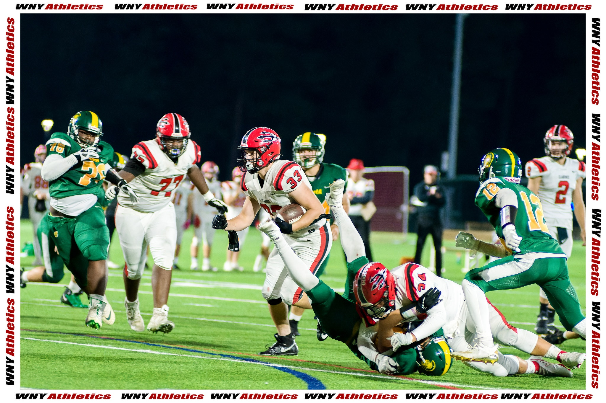 White's pick-six propels Clarence to road victory over Will North