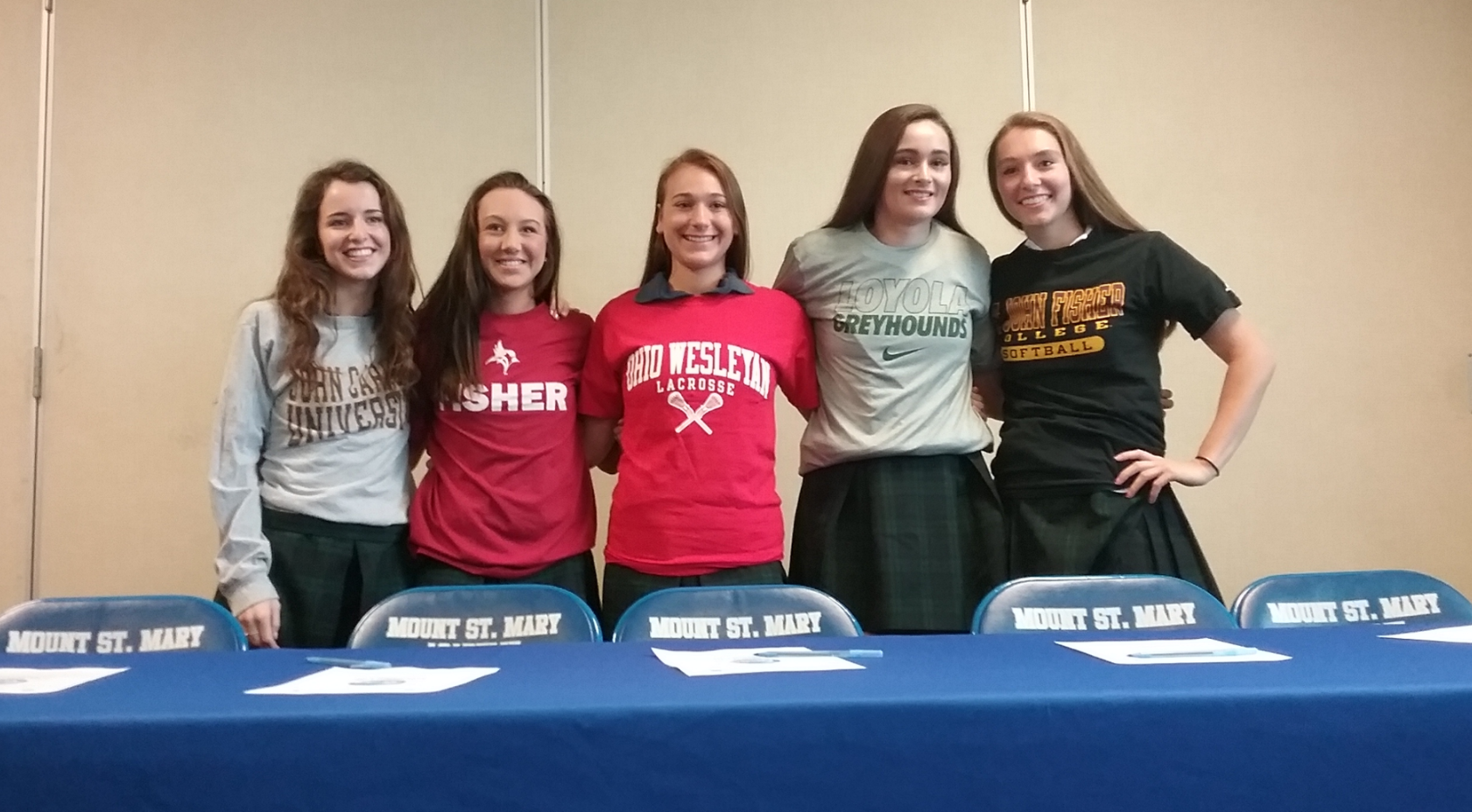 Mt. St. Mary Signing Day