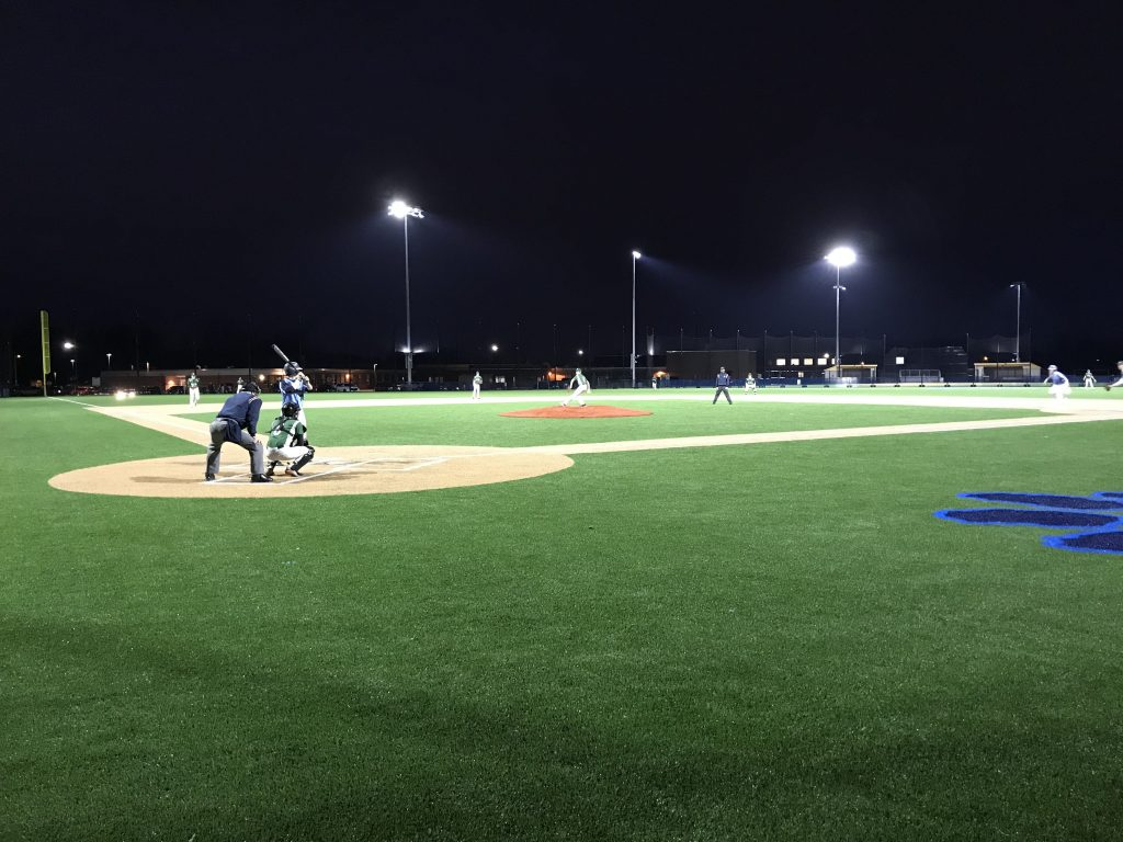 Depew Baseball Rolls to Victory in First Home Night Game