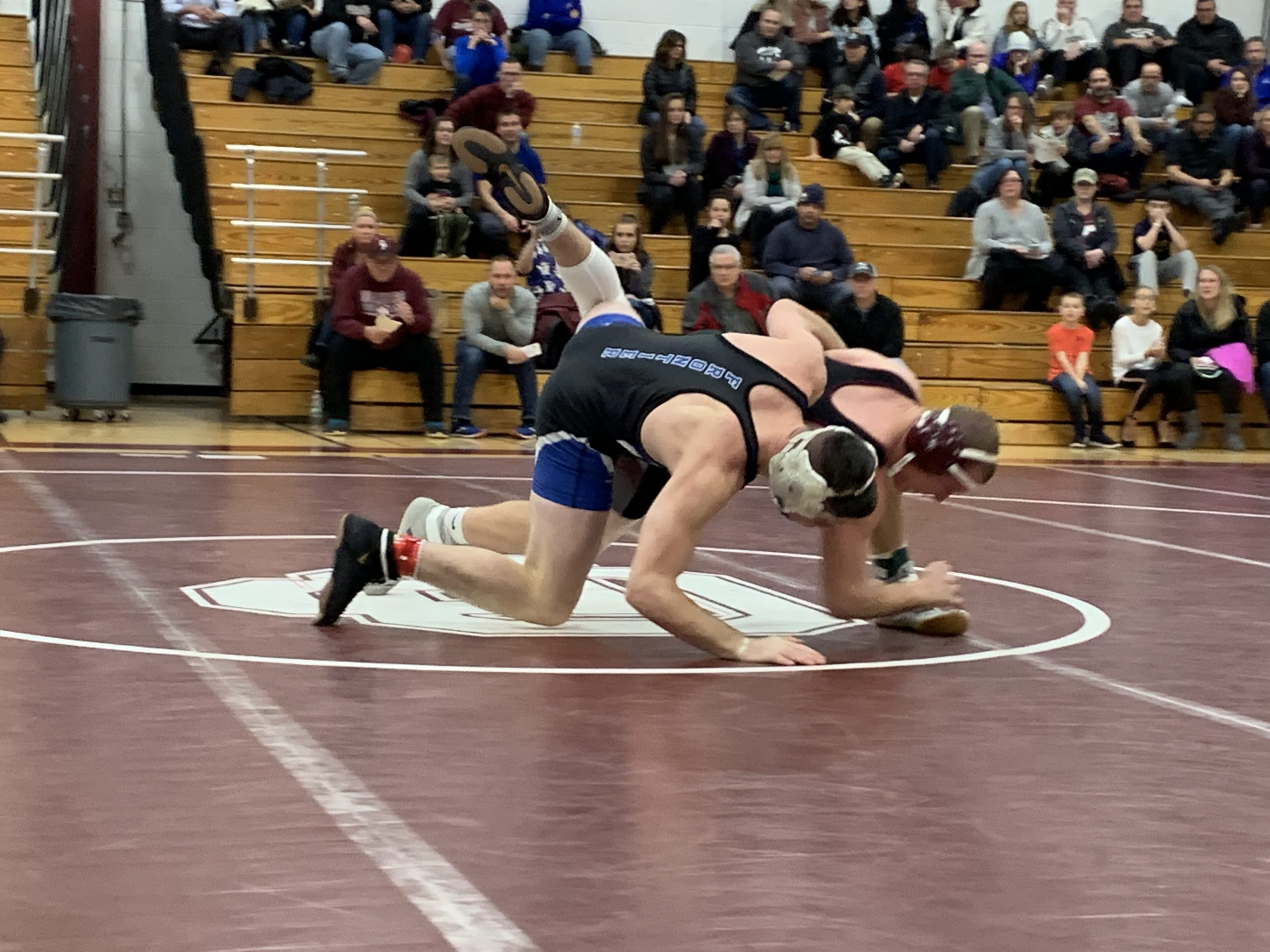 Browning, Frontier Ride Walk-Off Pin To ECIC I Wrestling Rivalry Win