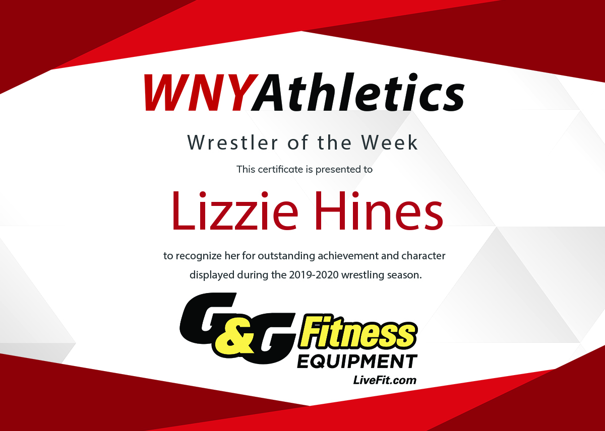 WNY Athletics Wrestler of the Week: Lizzie Hines