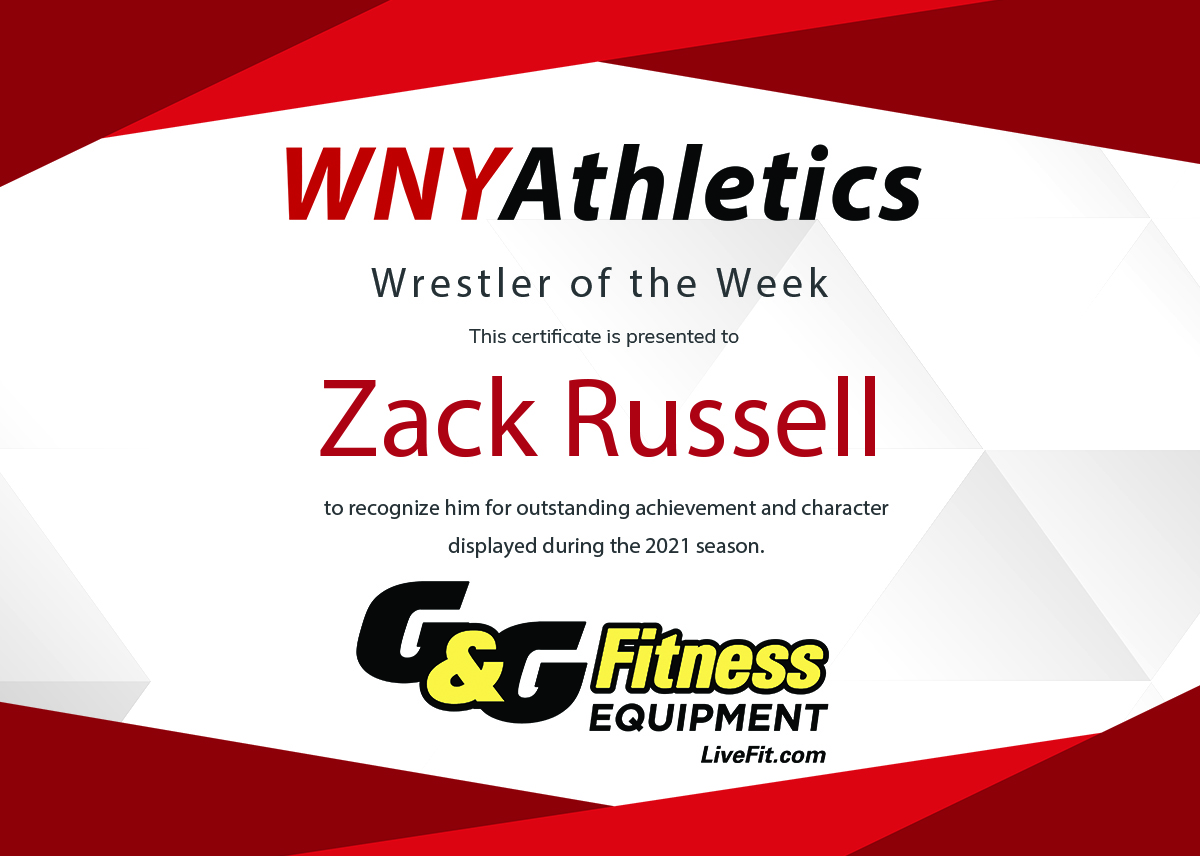 WNY Athletics Wrestler of the Week: Zack Russell